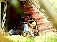 Indian Couple Boob Press & Fuck In Park
