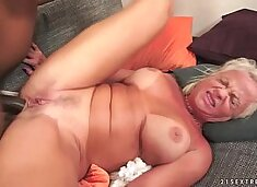 Interracial Anal Fuck with Granny Anett