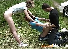 Auburn Teen Hot Babe Fuck In The Great Outdoors