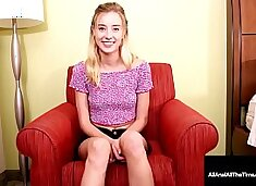 """Gaping 5' 10"""" Tiny Tit Haley Reed Anal Pounded & Creampied!"""