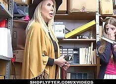 ShopLyfter - Granddaughter (Samantha Hayes) And Grandmother (Erica Lauren) Duo Fuck LP Officer After Getting Caught