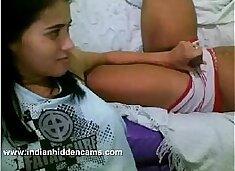 .com - indian girl with her boyfriend on webcam enjoying indian sex jerking him off
