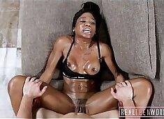 Hot Big Tits Black Teen Post Workout Fuck
