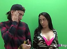 Young Rookie Filipe Jr. cannot believe his luck with busty Lidia!!!