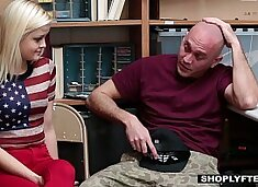 Shoplyfter - Girlfriend (Madison Hart) Fucked By Sleazy Officer and Boyfriend Watches